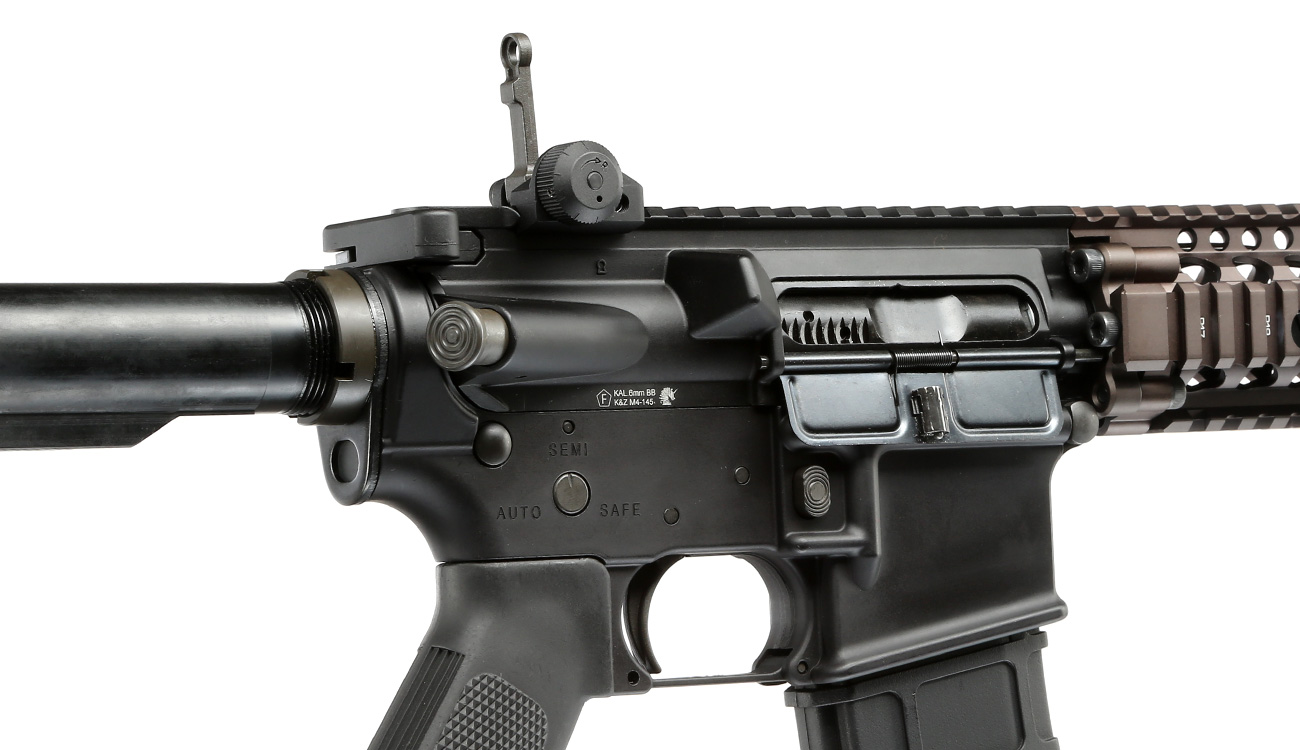 GHK Colt / Daniel Defense M4A1 RIS II Vollmetall Gas-Blow-Back 6mm BB Dualtone 8