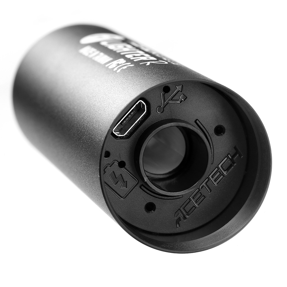 Acetech Lighter R Aluminium Silencer Mini Tracer Unit inkl. LiPo Akku 11mm+ / 14mm- schwarz 6