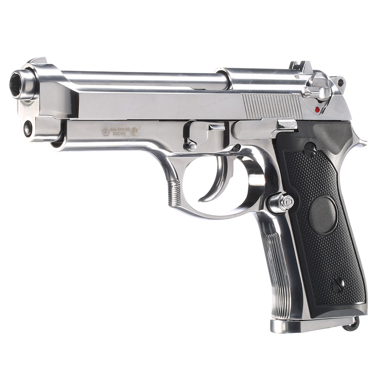 B&W Airsoft M9 Vollmetall GBB 6mm BB chrom 0