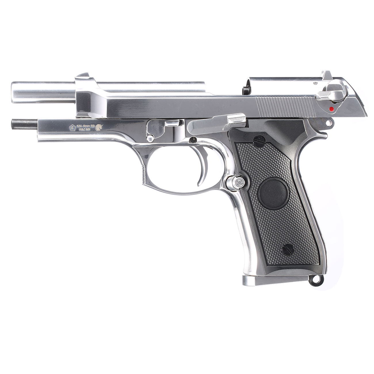 B&W Airsoft M9 Vollmetall GBB 6mm BB chrom 2