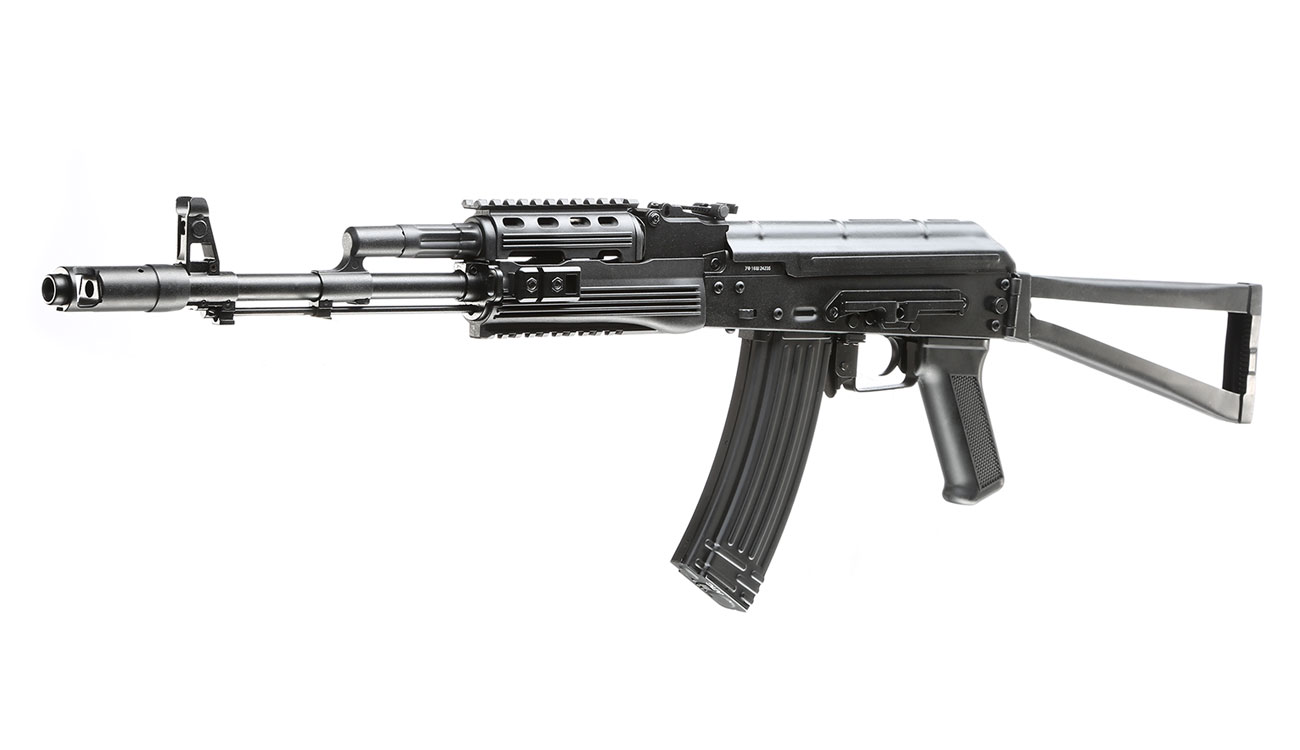 APS AKS-74 Tactical Vollmetall BlowBack S-AEG 6mm BB schwarz 0