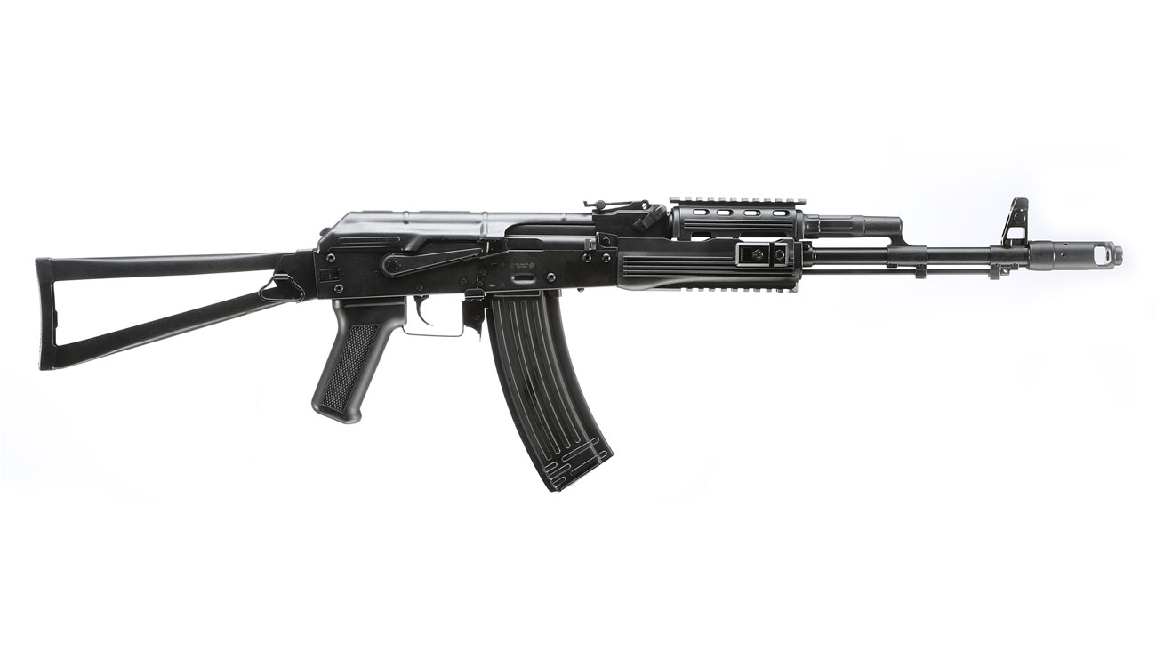 APS AKS-74 Tactical Vollmetall BlowBack S-AEG 6mm BB schwarz 2