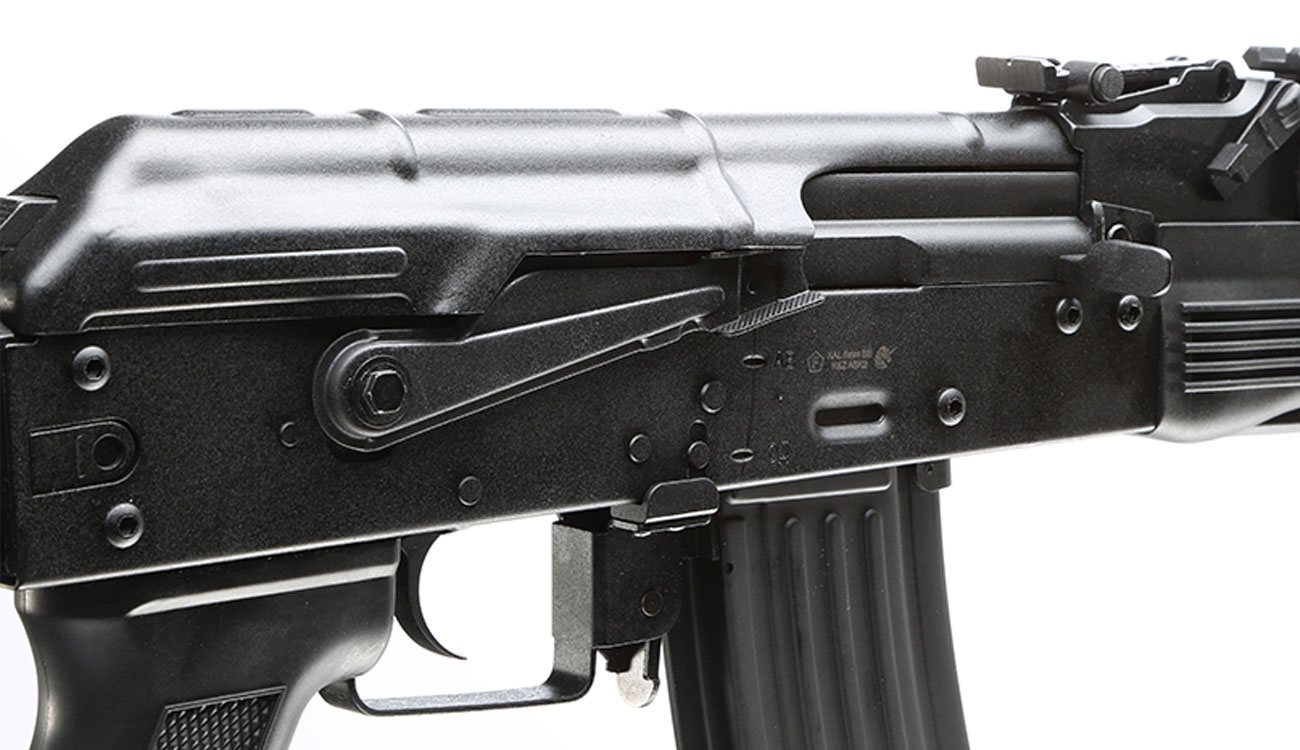 APS AKS-74 Tactical Vollmetall BlowBack S-AEG 6mm BB schwarz 8