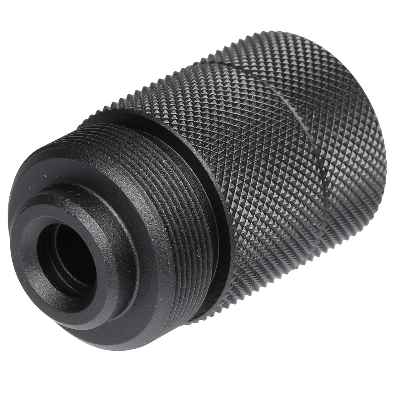 Action Army Barrel Extension / Silencer Adapter Type-A 14mm- schwarz f. AAC T10 Gewehre 2