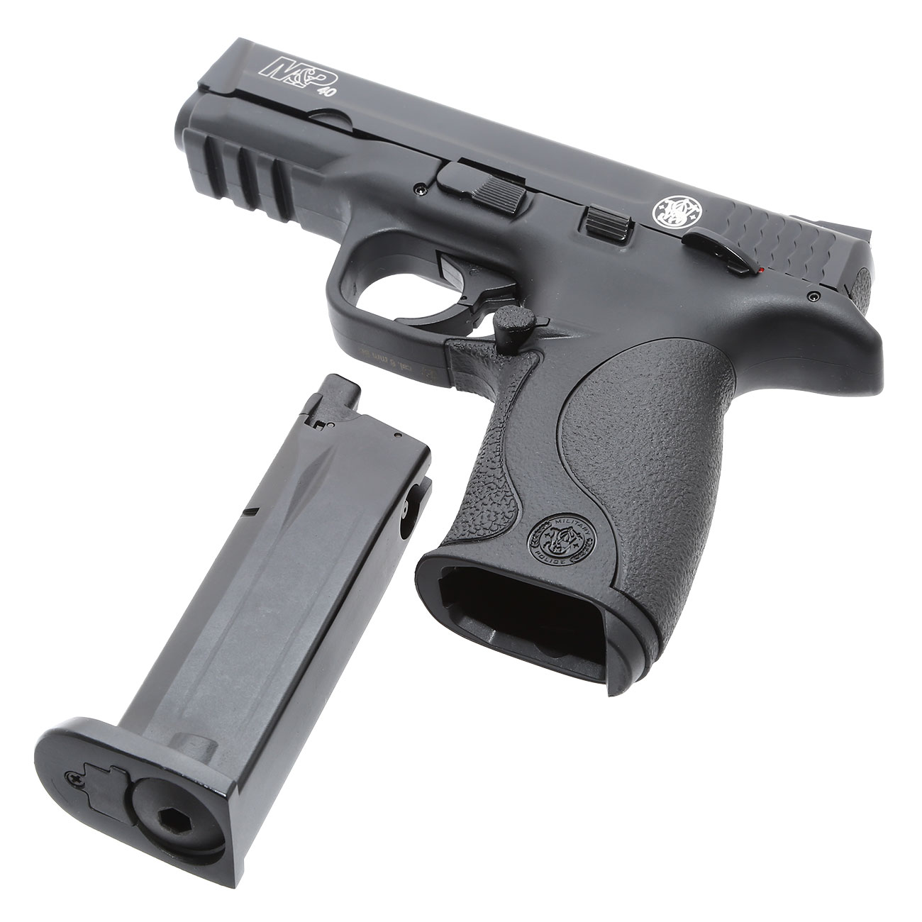 KWC Smith & Wesson M&P40 TS mit Metallschlitten CO2 BlowBack 6mm BB schwarz 6