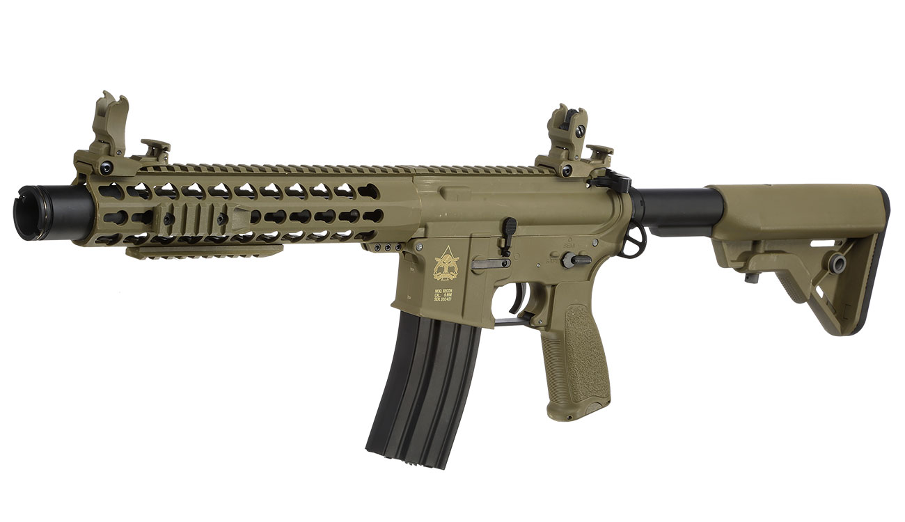 Evolution Airsoft Recon S 10 Amplified Carbontech S-AEG 6mm BB Tan 0