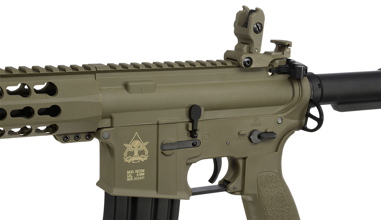 Evolution Airsoft Recon S 10 Amplified Carbontech S-AEG 6mm BB Tan 7