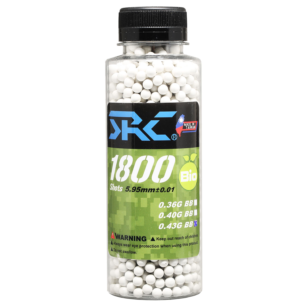 SRC High Precision Perfect Bio BBs 0,43g 1.800er Flasche weiss 0