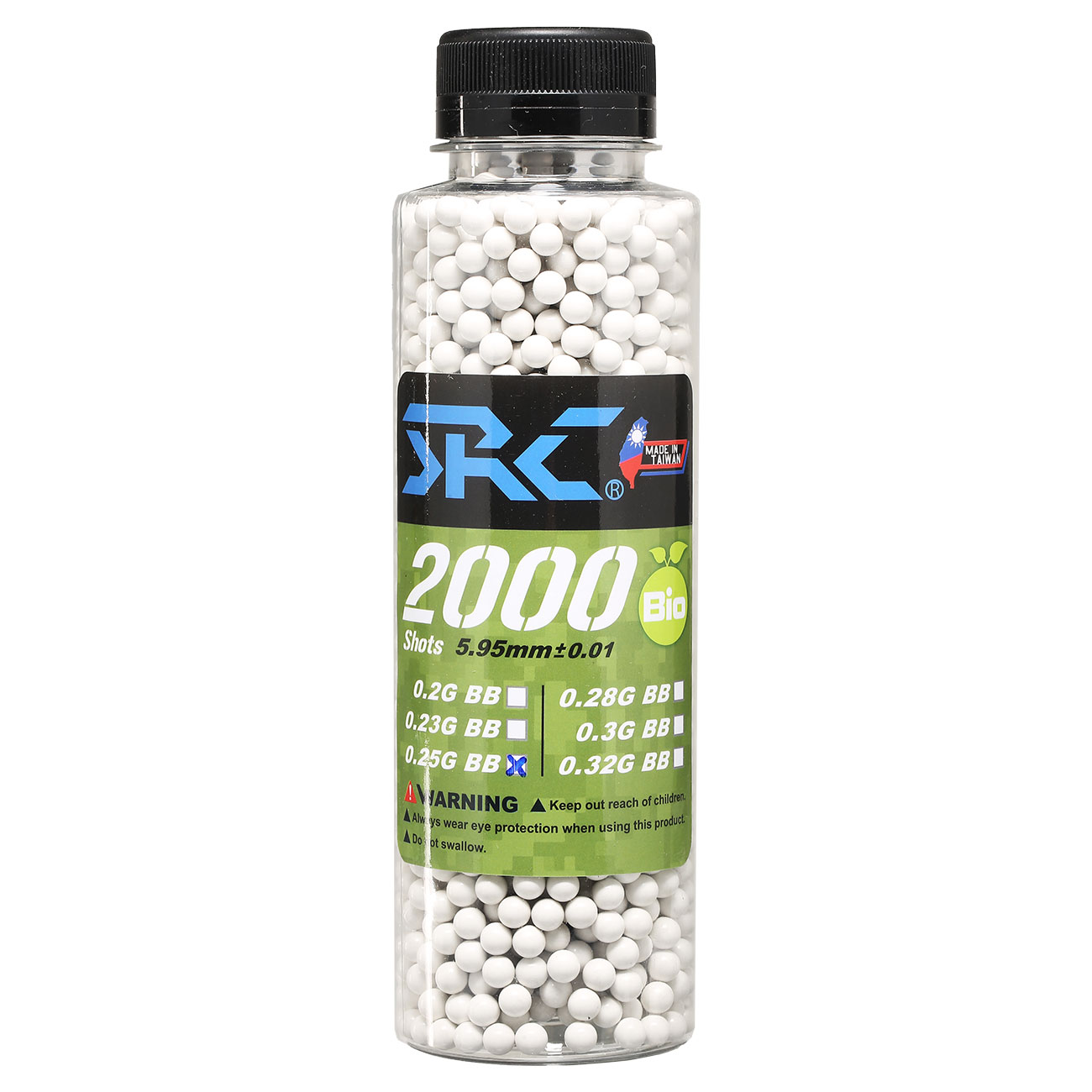 SRC High Precision Perfect Bio BBs 0,25g 2.000er Flasche weiss 0