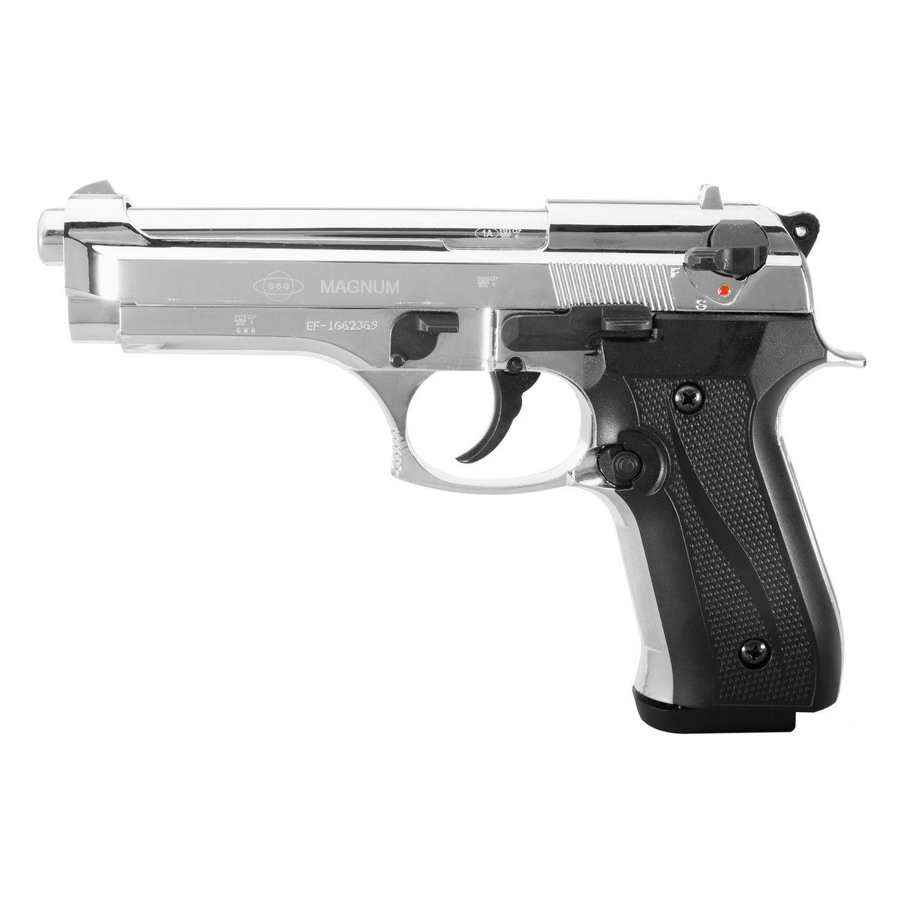 ekol firat magnum schreckschuss pistole chrom kal 9mm p a. Black Bedroom Furniture Sets. Home Design Ideas