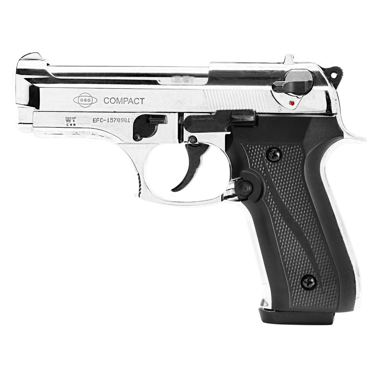 ekol firat compact schreckschuss pistole chrom kal 9mm p. Black Bedroom Furniture Sets. Home Design Ideas