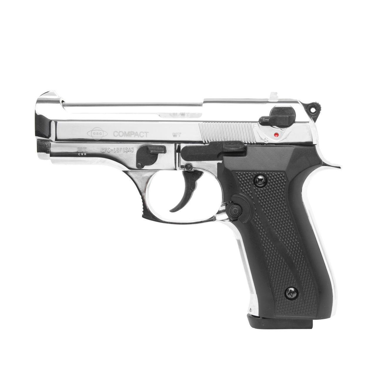 ekol firat compact schreckschuss pistole 9mm p a k chrom. Black Bedroom Furniture Sets. Home Design Ideas