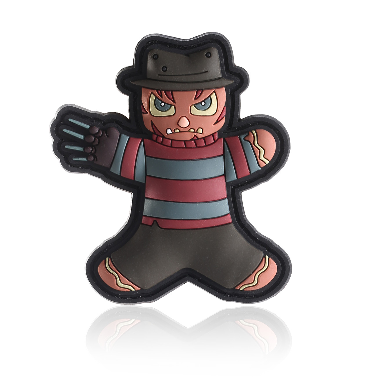TacOpsGear 3D Rubber Patch Halloween Edition Freddy Nightmare Klettfläche 0
