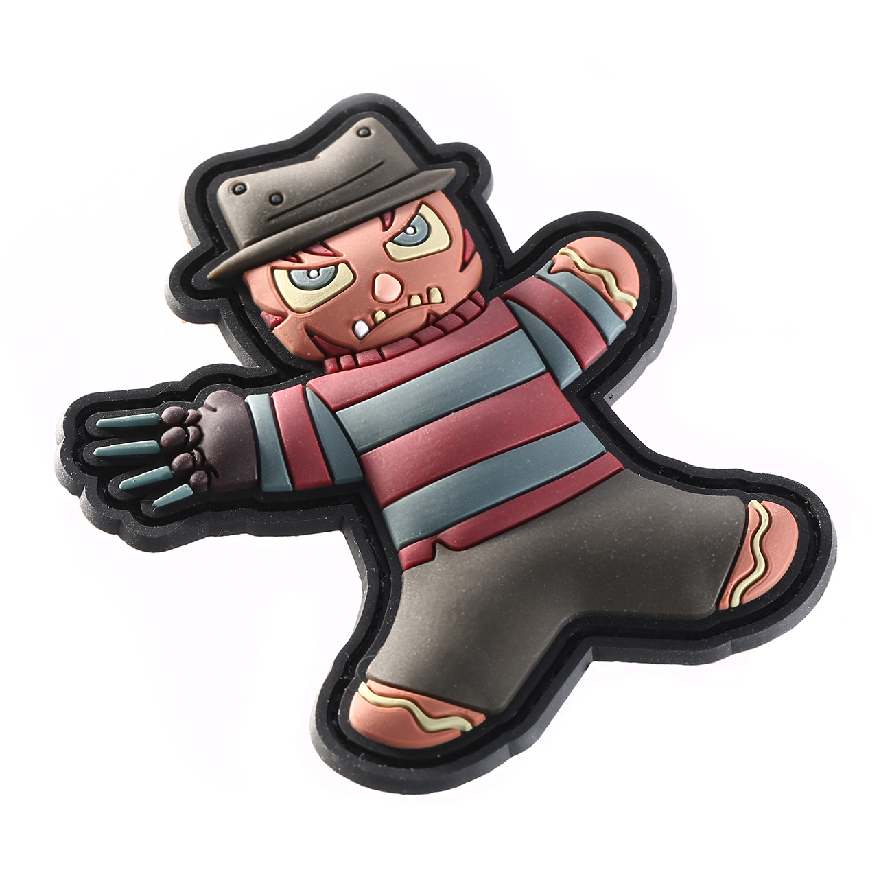 TacOpsGear 3D Rubber Patch Halloween Edition Freddy Nightmare Klettfläche 1