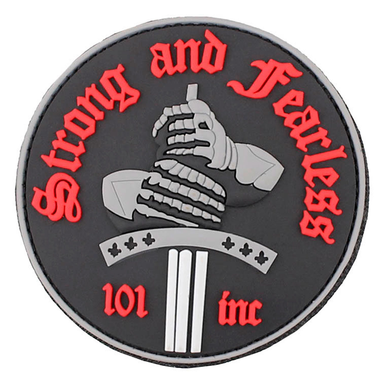 3D Rubber Patch Strong and Fearless rot 0