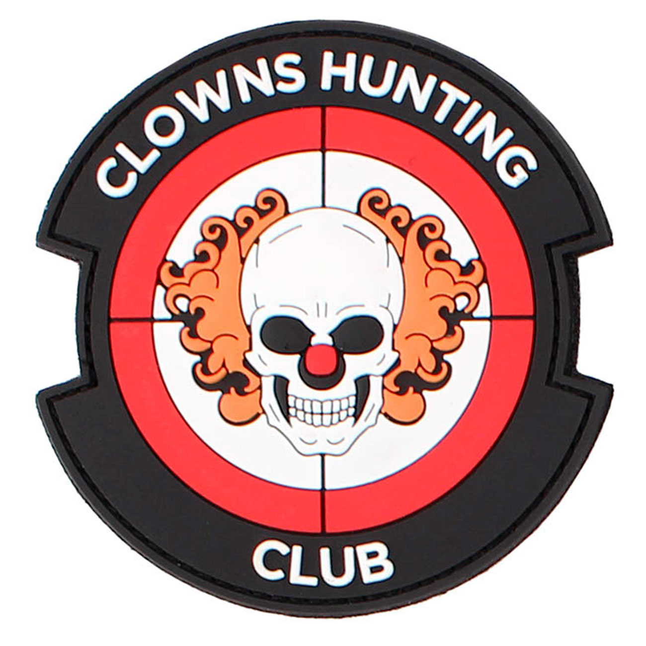 3D Rubber Patch Clowns Hunting Club rot 0