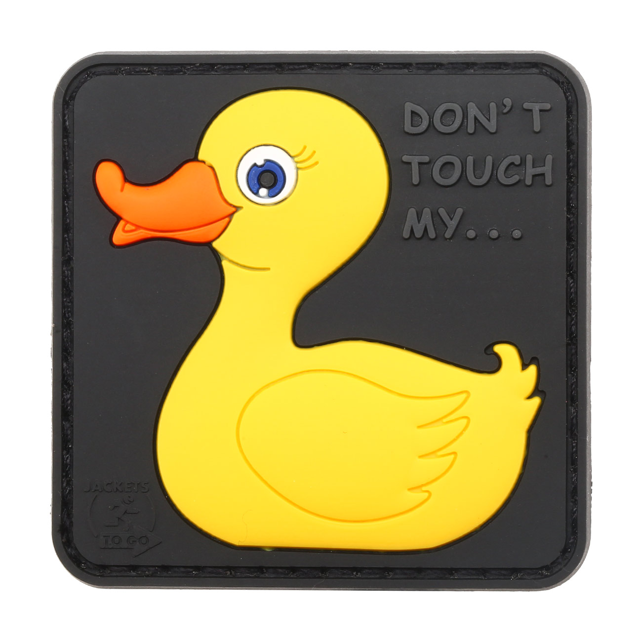 JTG 3D Rubber Patch Don´t Touch My Duck Klettfläche 0
