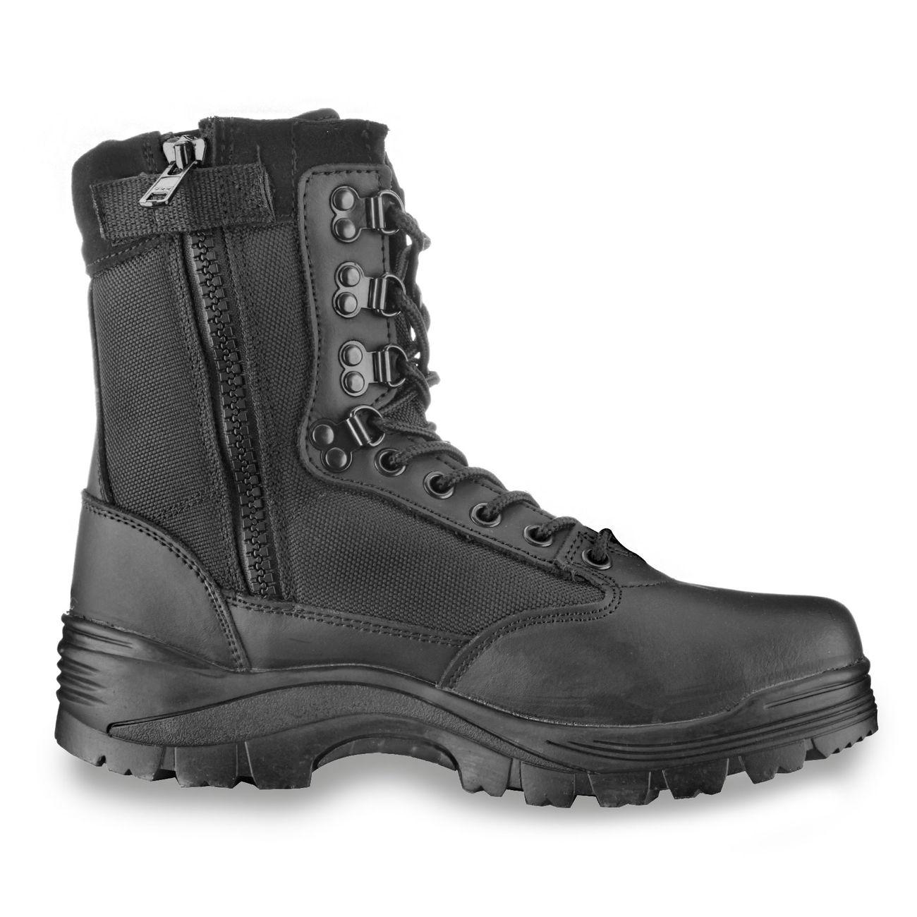 Mil Tec Stiefel Tactical Boots YKK Zipper schwarz