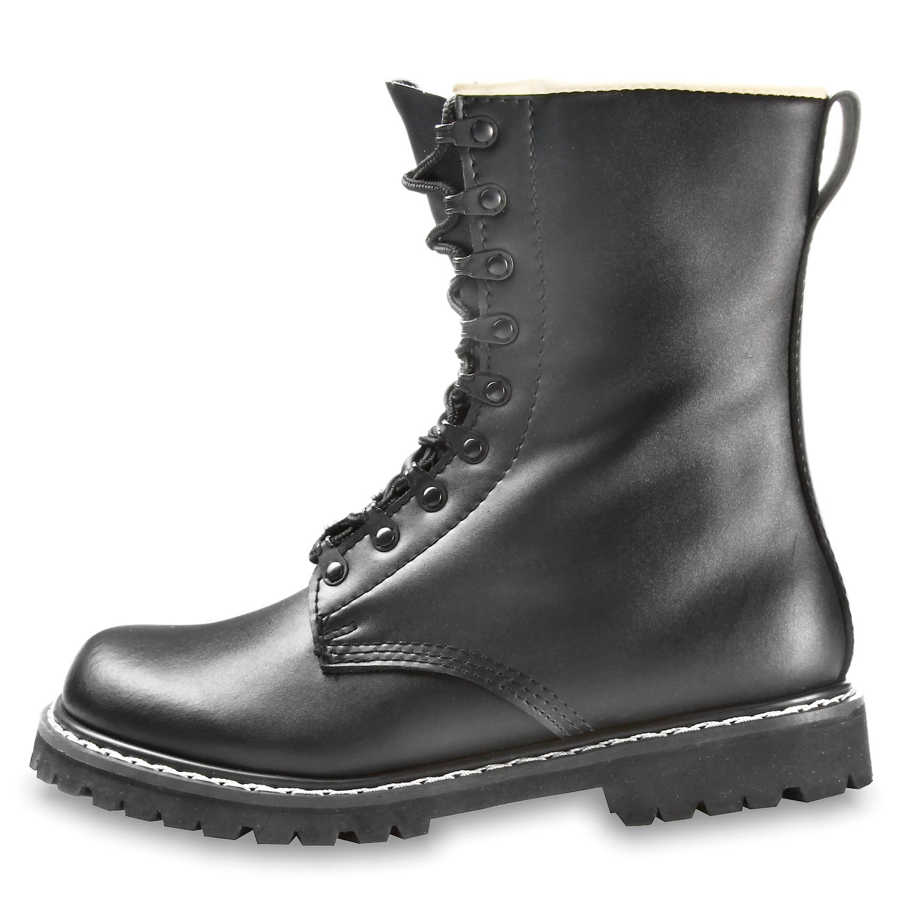 neu kaufen glatt bis zu 60% sparen Commando Springerstiefel schwarz
