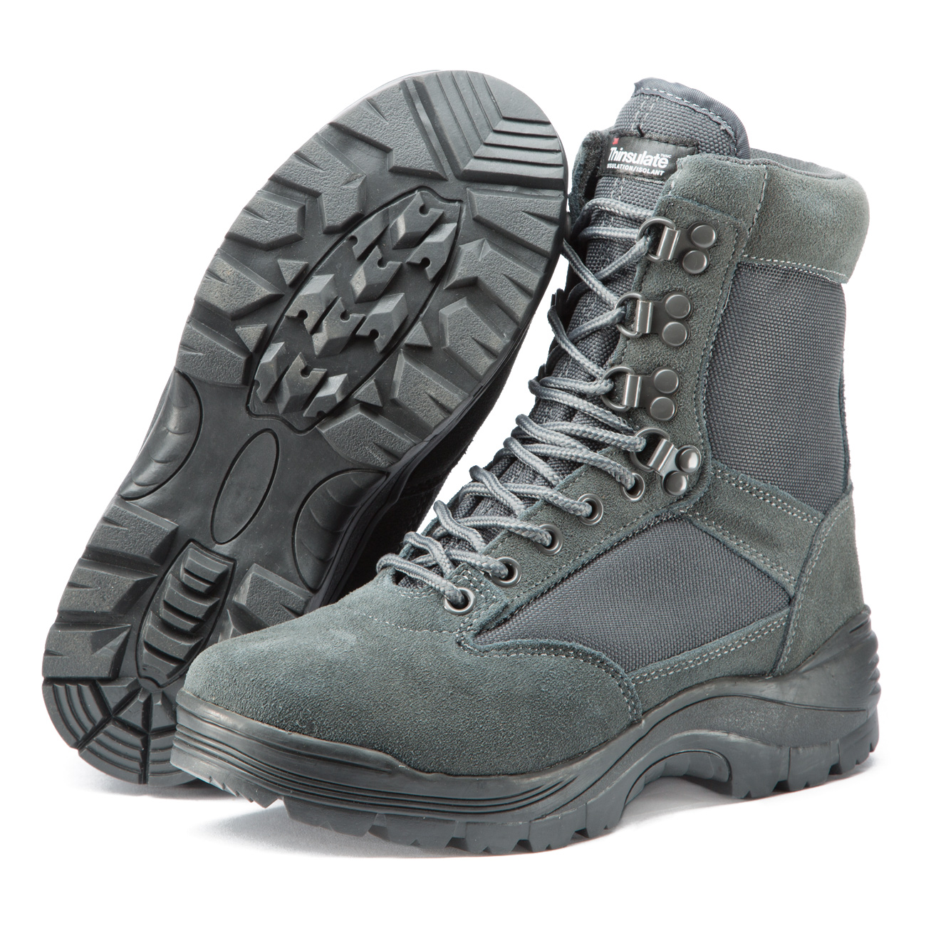 Mil-Tec Stiefel Tactical Boots YKK-Zipper urban grey 1