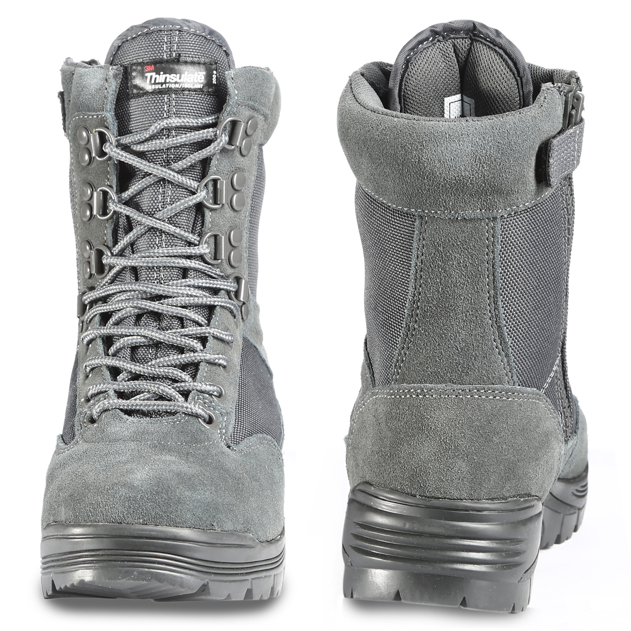 Mil-Tec Stiefel Tactical Boots YKK-Zipper urban grey 3