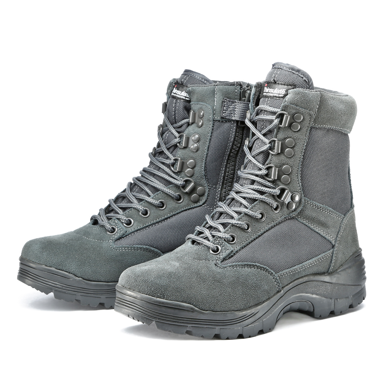Mil-Tec Stiefel Tactical Boots YKK-Zipper urban grey 5
