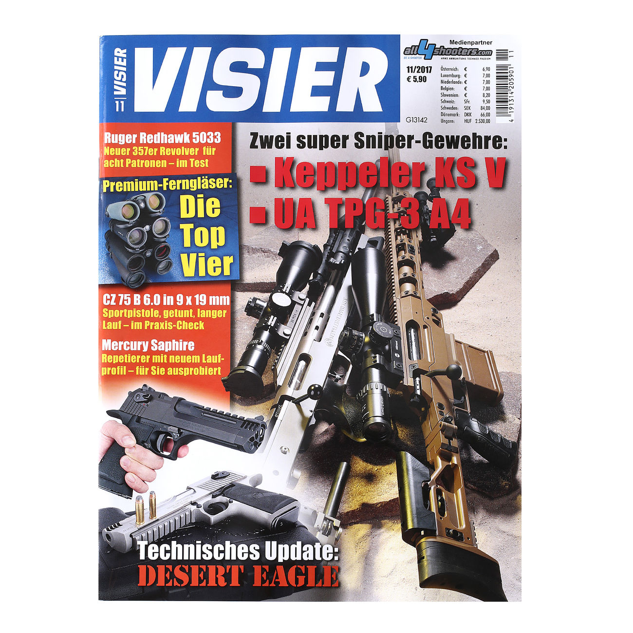 Visier - Das internationale Waffenmagazin 11/2017 1