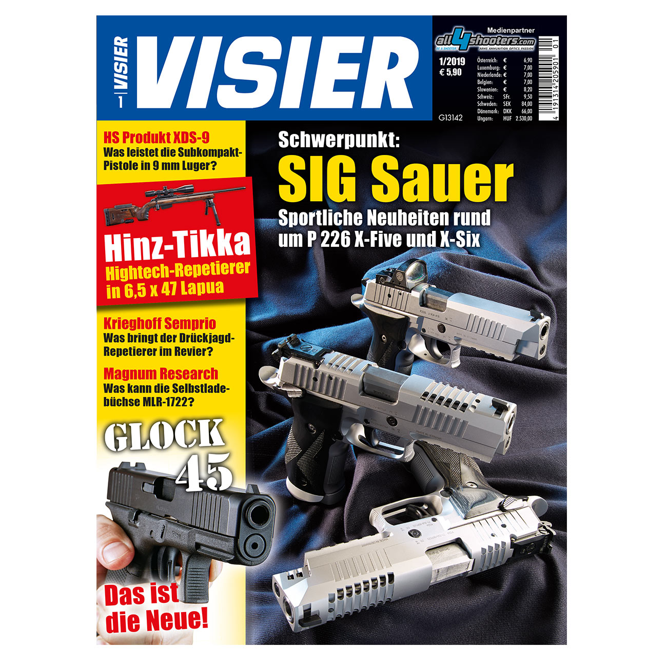 Visier - Das internationale Waffenmagazin 01/2019 0