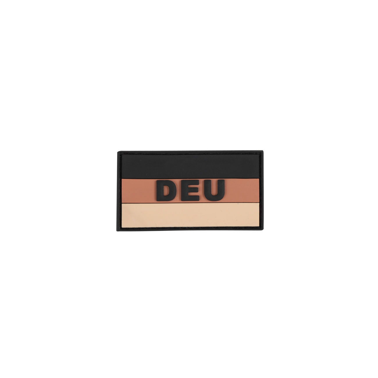 3D Rubber Patch Deutschlandflagge DEU khaki 0