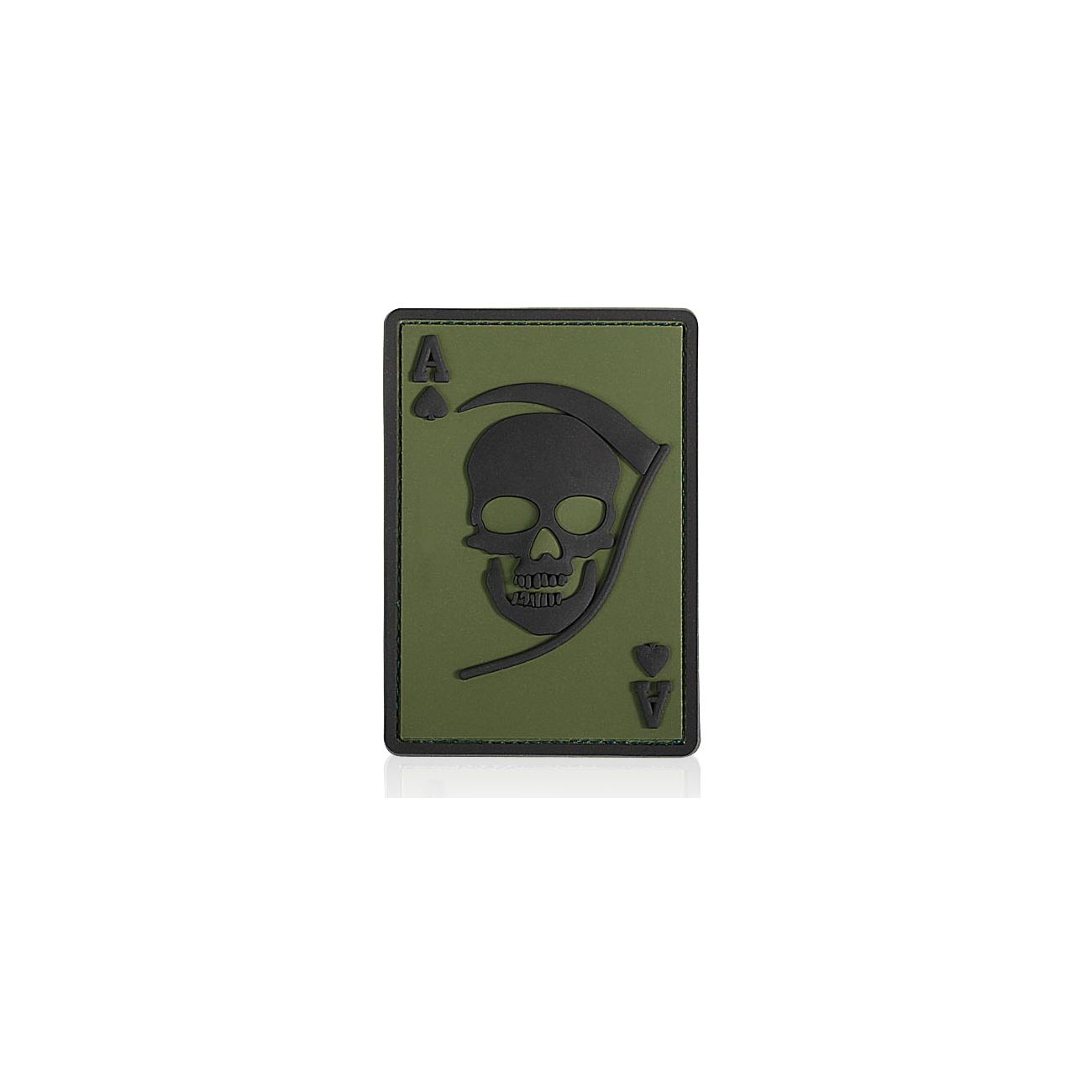 3D Rubber Patch Death Ace oliv schwarz 0