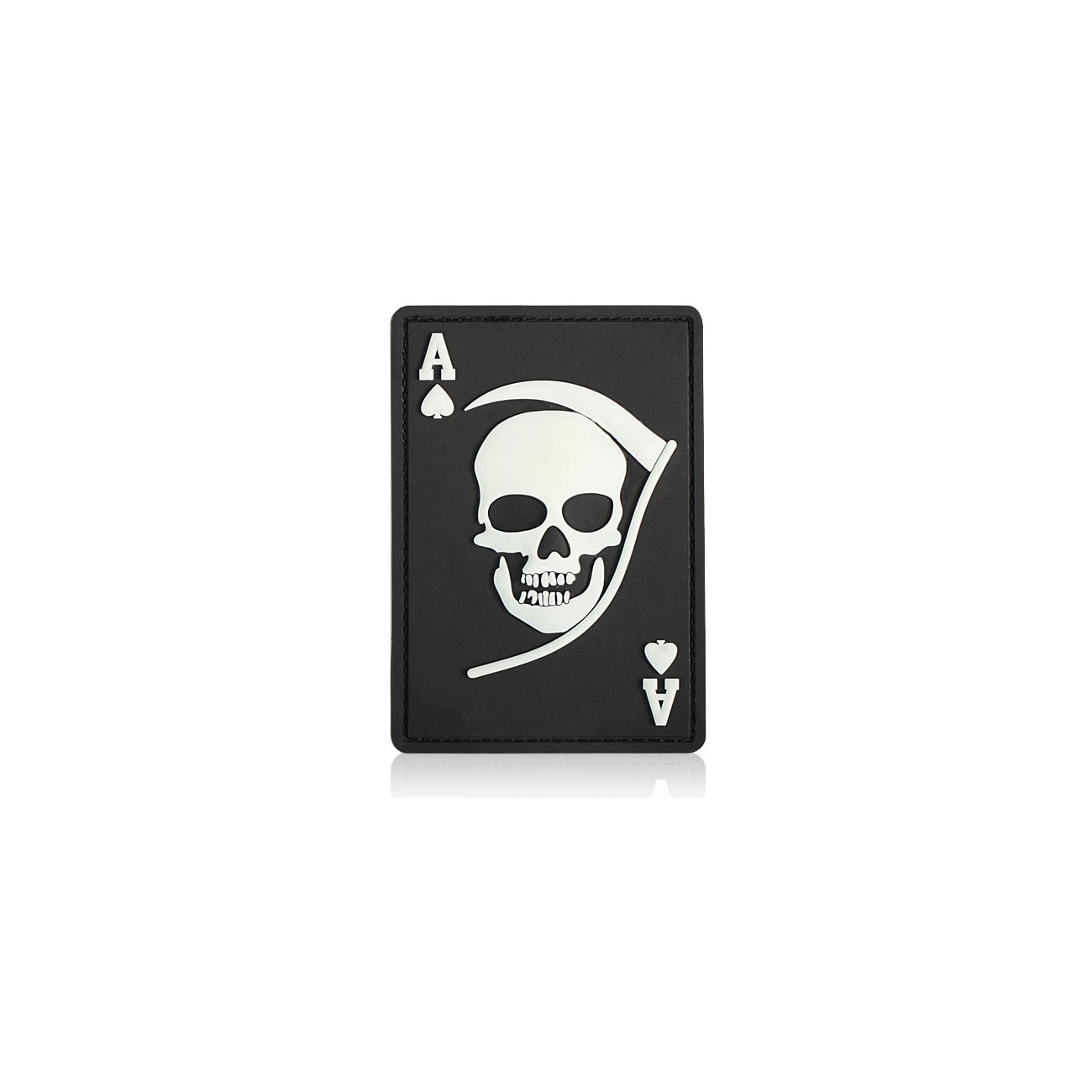 3D Rubber Patch Death Ace schwarz weiß 0