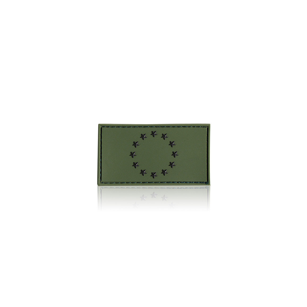 3D Rubber Patch EU Flagge oliv 0