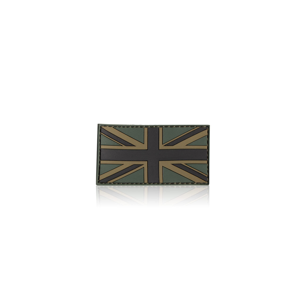 3D Rubber Patch Flagge UK oliv England 0