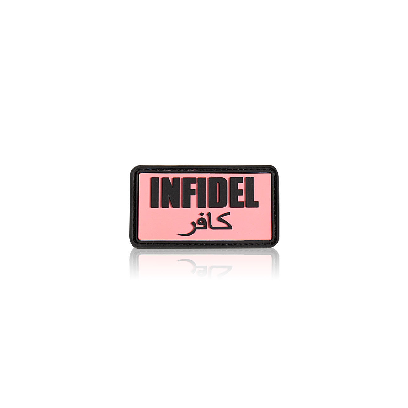 3D Rubber Patch Infidel pink schwarz 0