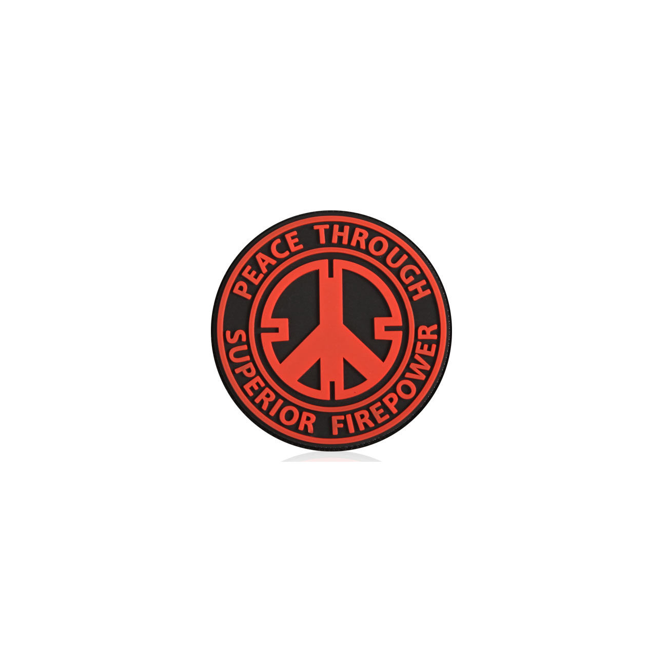 3D Rubber Patch Peace rot 0
