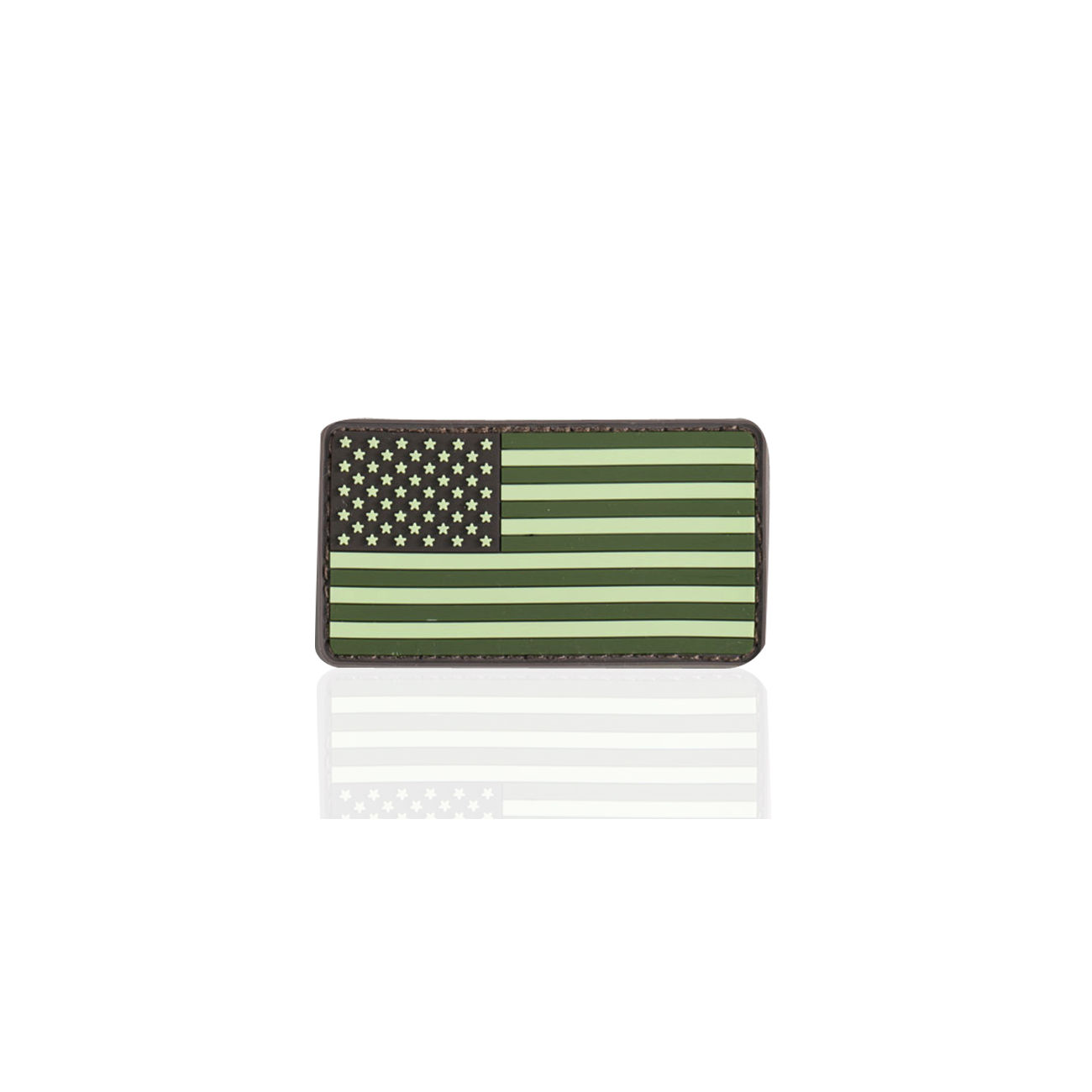 3D Rubber Patch Flagge USA forest 0