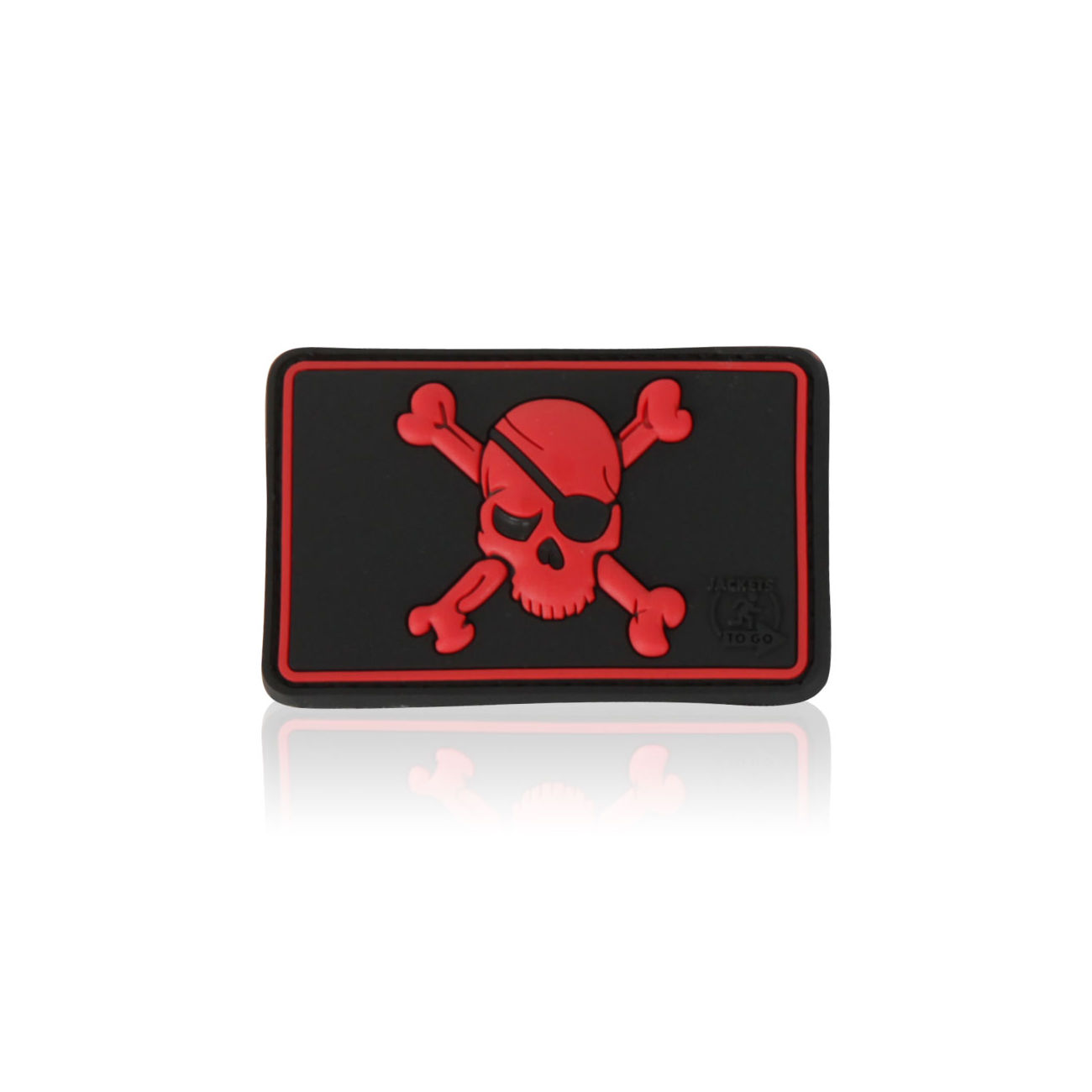3D Rubber Patch Pirate Skull blackmedic 0
