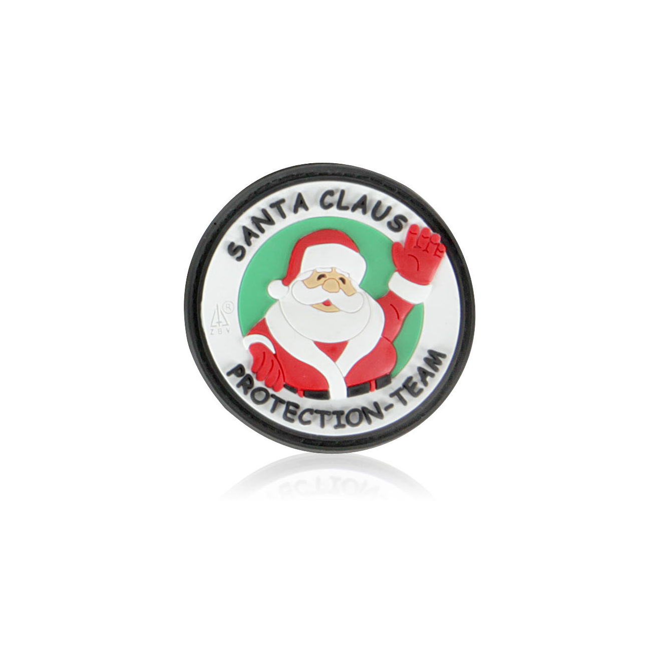 3D Rubber Patch Santa Claus Protection Team 0