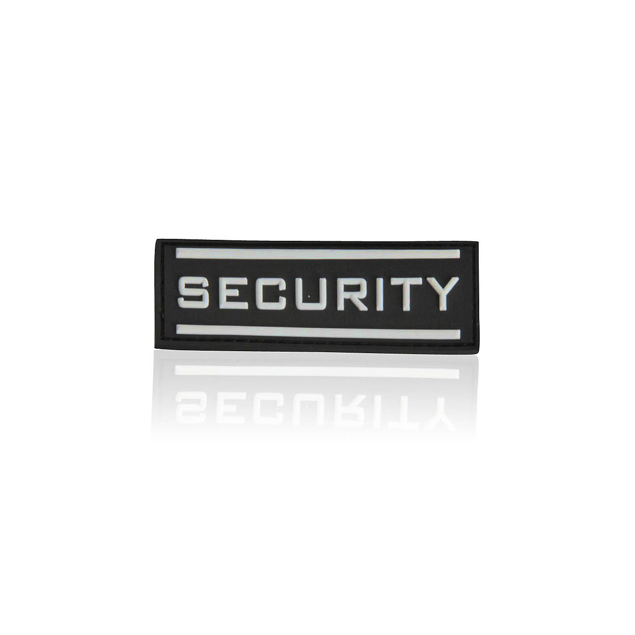 3D Rubber Patch Security gross nachleuchtend 0