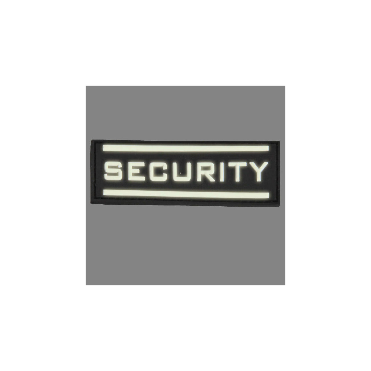 3D Rubber Patch Security gross nachleuchtend 1
