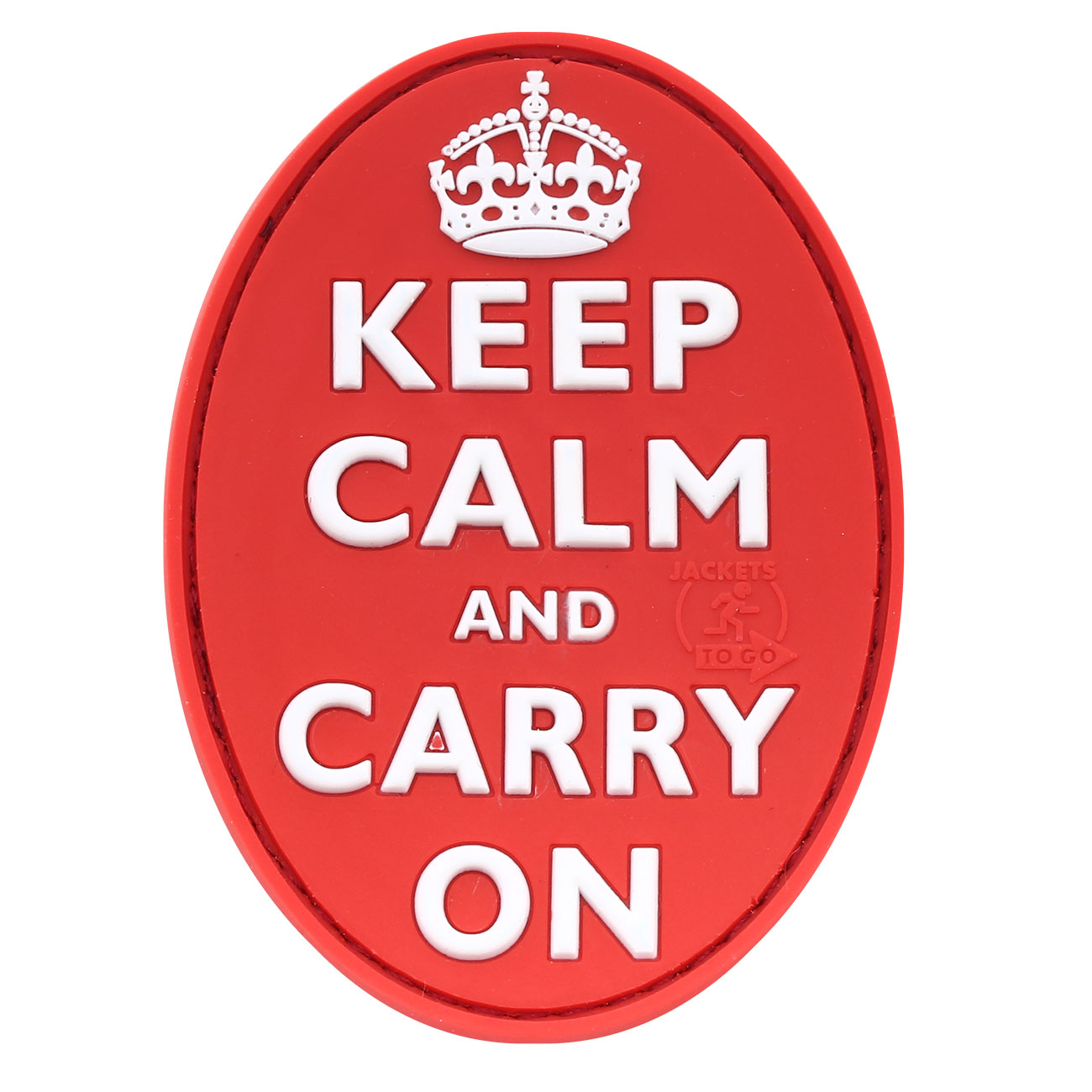 JTG 3D Rubber Patch Keep Calm and Carry on rot 0