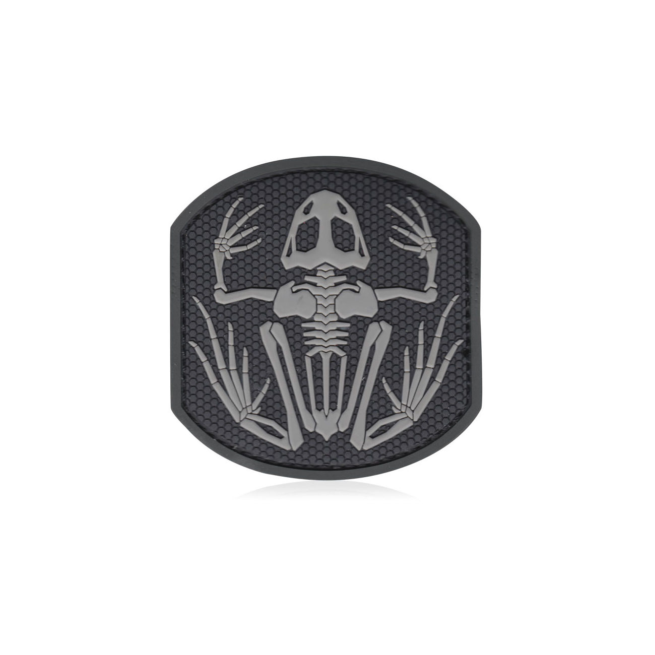 3D Rubber Patch Frog Skeleton swat 0
