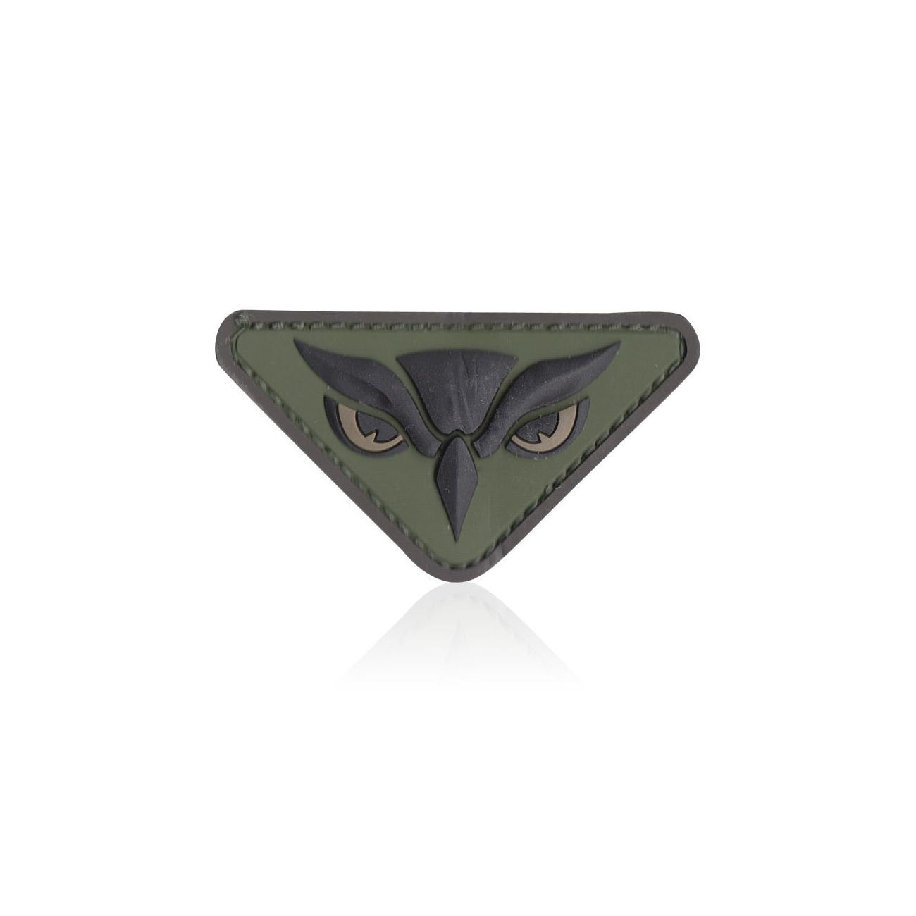 3D Rubber Patch Owl Head forest 0