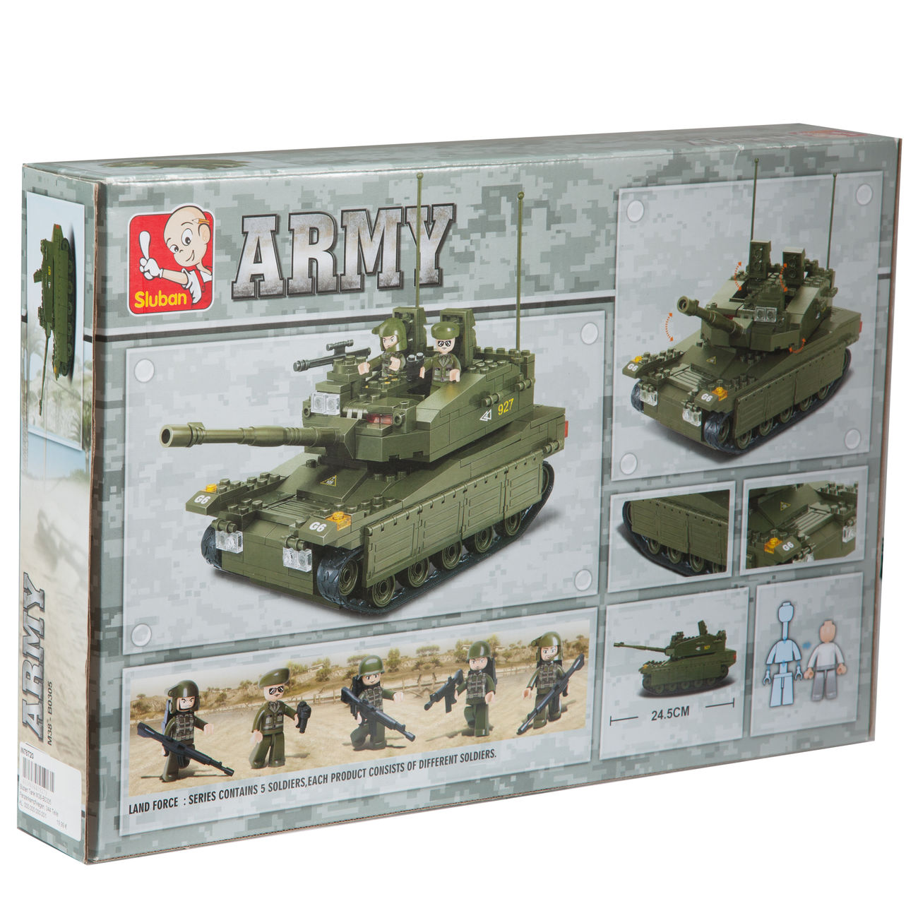 Sluban Panzerkampfwagen M38-B6500 312 Bauteile