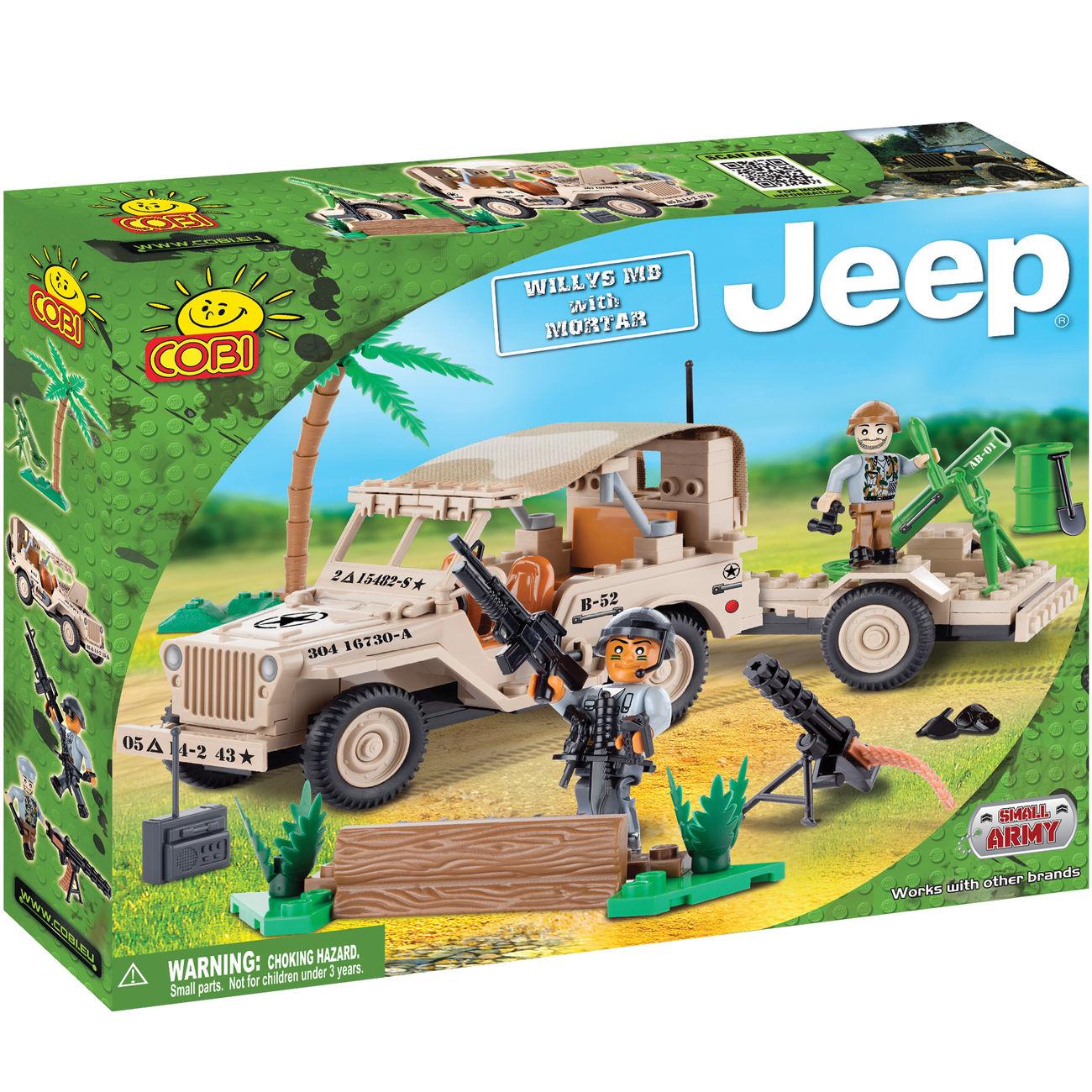 cobi bausatz jeep willys mb mortar 192 teil kotte zeller. Black Bedroom Furniture Sets. Home Design Ideas