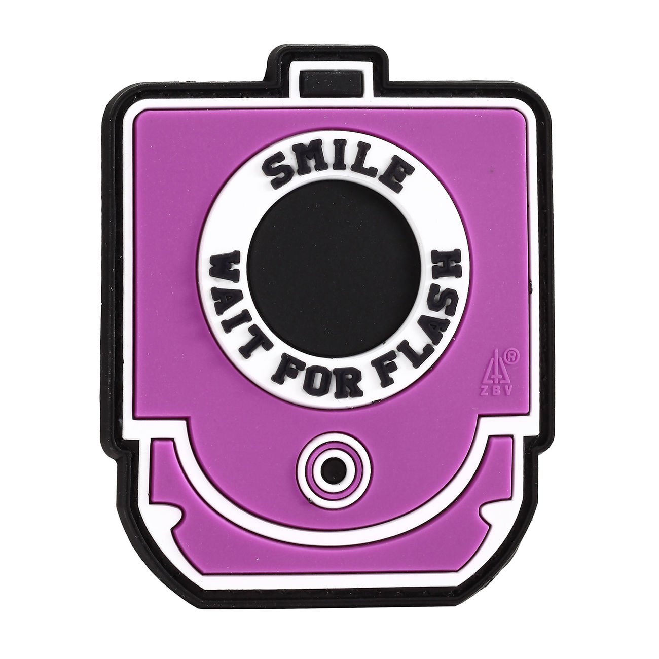 3D Rubber Patch Smile and Wait for Flash pink 0