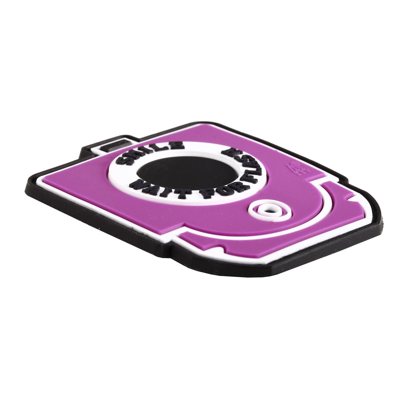 3D Rubber Patch Smile and Wait for Flash pink 1