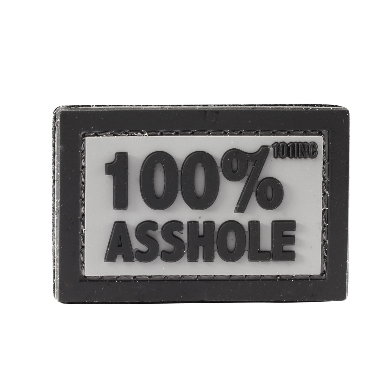 101 INC. 3D Rubber Patch 100% Asshole grau/schwarz 0