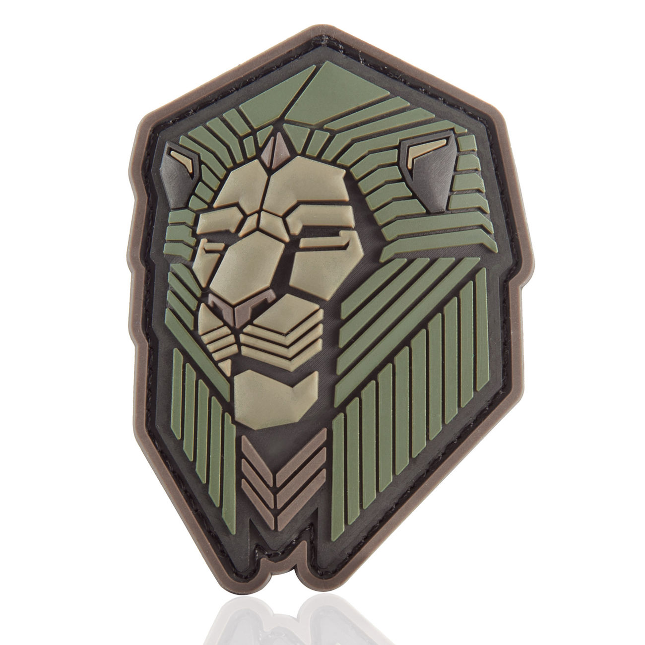 Mil-Spec Monkey 3D Rubber Patch Industrial Lion forest 0