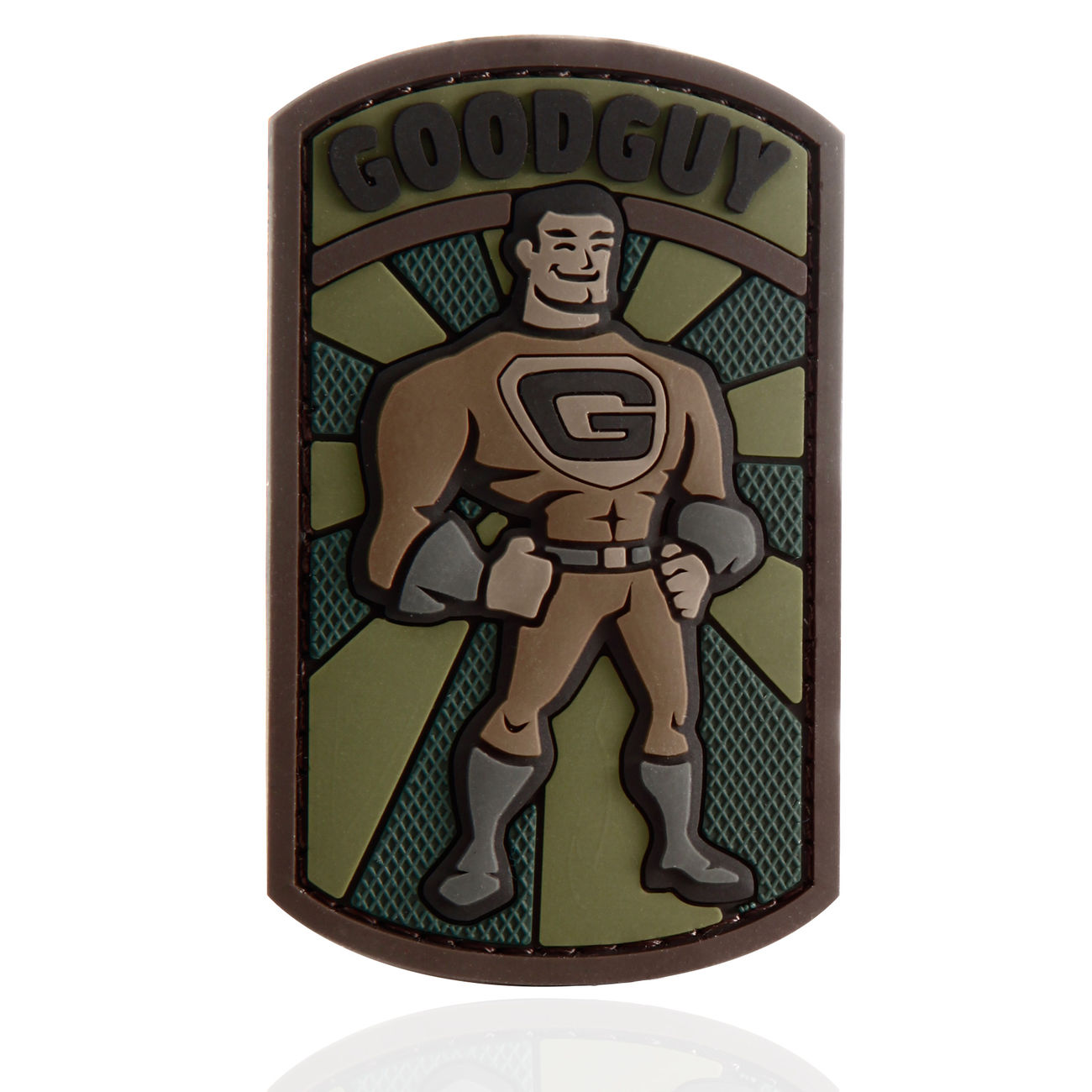 Mil-Spec Monkey 3D Rubber Patch Good Guy forest